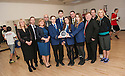 Larbert High School : sportscotland Scottish Sports Awards 2012 Winners.<br /> <br /> Left to Right : Susan Orr (Depute Rector), Andrew Sutherland (Director of Education Falkirk Council), Mary Pitcaithly OBE (Chief Executive Falkirk Council), Alan Nimmo (education Convenor Falkirk Council), Jack Mitchell, Fraser Malcolm, Meghan Plummer, Jon Reid (Rector), Holly Moffat, Craig Martin (Leader Falkirk Council), Jamie Swinney (Head of Tryst Community Sports Club) and Jo Latimer (Principal Teacher Health & Wellbeing).