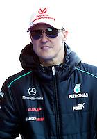 Mercedes Racing's German Michael Schumacher during the F1 Test days in Montmelo racetrack, Barcelona, 22 February 2012. PHOTO Insidefoto / Alejandro Garcia / Anatomica Press