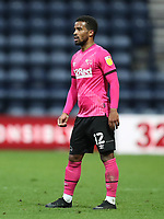 20th April 2021; Deepdale, Preston, Lancashire, England; English Football League Championship Football, Preston North End versus Derby County; Nathan Byrne of Derby County