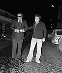 SERGIO CORBUCCI CON PAOLO VILLAGGIO<br /> ROMA 1973