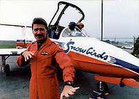 Major Steve Hill snowbirds team leader<br /> <br /> Photo : Boris Spremo - Toronto Star archives - AQP