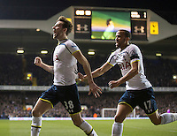 04.03.2015.  London, England. Barclays Premier League. Tottenham Hotspur versus Swansea City. Tottenham Hotspur's Ryan Mason celebrates his goal with Andros Townsend. ; Mason was made interim team manager for 2021 season after Spurs sacked Jose Mourinho. Mason retired from playing for Tottenham after suffering a fractured skull in a game in early 2017 at Hull.