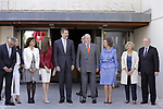 L-R) Dolors Montserrat i Montserrat, Minister of Health, Social Services and Equality of Spain, Queen Letizia of Spain, King Felipe VI of Spain, King Juan Carlos, Queen Sofia and Mayor of Madrid Manuela Carmena during the 40th anniversary of Reina Sofia Alzheimer Foundation. May 21 ,2017. (ALTERPHOTOS/Pool)