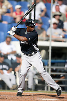 February 25, 2009:  Center Fielder Austin Jackson (82) of the New York Yankees during a Spring Training game at Dunedin Stadium in Dunedin, FL.  The New York Yankees defeated the Toronto Blue Jays 6-1.   Photo by:  Mike Janes/Four Seam Images