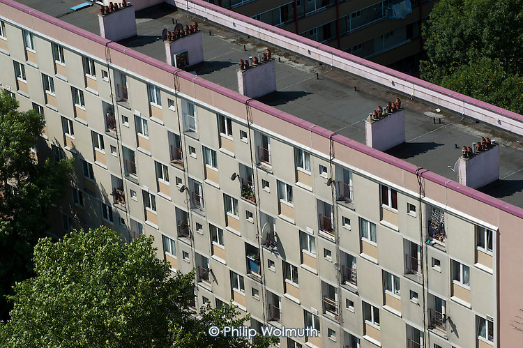 Silverdale, one of the blocks on Camden Council's Regents Park Estate, adjacent to Euston station, scheduled for demolition under current plans for the London terminal of the HS2 high speed train line.