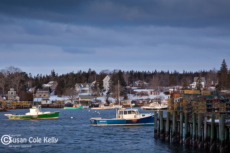 Bass Harbor, a fishing village on Mount Desert Island, in Downeast, ME, USA