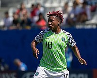 GRENOBLE, FRANCE - JUNE 12: Rita Chikwelu #10 of the Nigerian National Team at midfield during a game between Korea Republic and Nigeria at Stade des Alpes on June 12, 2019 in Grenoble, France.