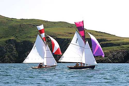 The Howth Seventeens race round Lambay today – as they have been doing annually since 1902. Photo: John Deane