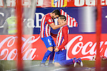 Fernando Torres of Atletico de Madrid celebrates with teammate Jorge Resurreccion Merodio Koke during their La Liga match between Atletico de Madrid and RC Celta de Vigo at the Vicente Calderón Stadium on 12 February 2017 in Madrid, Spain. Photo by Diego Gonzalez Souto / Power Sport Images