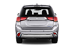 Straight rear view of 2020 Mitsubishi Outlander-PHEV Business 5 Door SUV Rear View  stock images