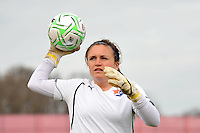 Sky Blue FC goalkeeper Erin Guthrie (22) The Philadelphia Independence and Sky Blue FC played to a 2-2 tie during a Women's Professional Soccer (WPS) match at Yurcak Field in Piscataway, NJ, on April 10, 2011.