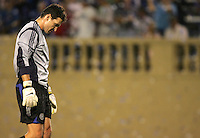 29 June 2005:   Joe Cannon, goalkeeper of Rapids, disappoints after Dwayne De Rosario of Earthquakes scored a game winning goal during the second half of the game at Spartan Stadium in San Jose, California.   Earthquakes defeated Rapids, 1-0.  Mandatory Credit: Michael Pimentel / ISI