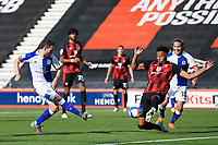 Corry Evans of Blackburn Rovers has a shot on goal blocked by Lloyd Kelly of Bournemouth during AFC Bournemouth vs Blackburn Rovers, Sky Bet EFL Championship Football at the Vitality Stadium on 12th September 2020