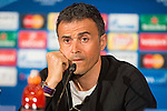 FC Barcelona coach Luis Enrique during the press conference the day before UEFA Champions League match between Atletico de Madrid and FC Barcelona at Hotel Eurostars in Madrid. April 13, 2016. (ALTERPHOTOS/Borja B.Hojas)