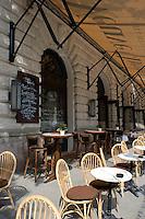 An outdoor cafe near the opera house, Budapest, Hungary, Europe