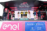 Team Jumbo-Visma leading team at the end of Stage 20 of the 2021 Giro d'Italia, running 164km from Verbania to Valle Spluga-Alpe Motta, Italy. 29th May 2021.  <br /> Picture: LaPresse/Gian Mattia D'Alberto   Cyclefile<br /> <br /> All photos usage must carry mandatory copyright credit (© Cyclefile   LaPresse/Gian Mattia D'Alberto)