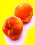 abstract photo illustration of two peaches