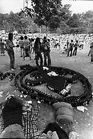 FILE PHOTO  -  Saint-Jean-Baptiste celebration on Mont-Royal, June 1976<br /> <br /> PHOTO : Alain Renaud - Agence Quebec Presse