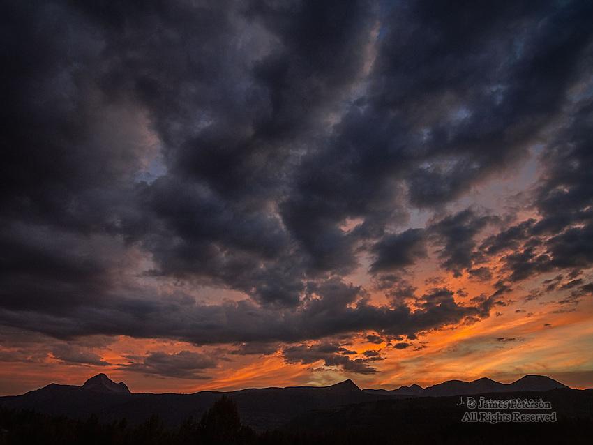Sunset over San Juan Mountains, Colorado