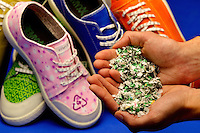Charlotte small business product photography of REMYXX sneakers, a 100 percent recycable sneaker. REMYXX markets itself as the world's first and only completely landfill-free sneakers.  REMYXX  founder and CEO, Charlotte-based entrepreneur Gary Gagnon, appeared on ABC television's Shark Tank in May 2012. Gagnon says more than 300 million pairs of shoes were thrown away in the U.S. in 2011.