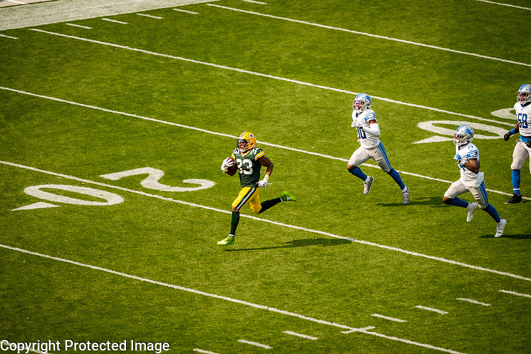 Green Bay Packers against the Detroit Lions during a regular season game at Lambeau Field in Green Bay on Sunday, September 20, 2020.