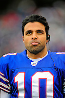 30 November 2008: Buffalo Bills' backup quarterback Gibran Hamdan looks up at the scoreboard prior to a game the San Francisco 49ers at Ralph Wilson Stadium in Orchard Park, NY. The 49ers defeated the Bills 10-3. ***** Editorial Use Only ******..Mandatory Photo Credit: Ed Wolfstein Photo