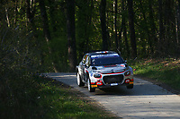 23rd April 2021; Zagreb, Croatia; WRC Rally of Croatia, stages 1-8;  Yohan Rossel - Citroen C3 WRC2