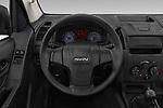 Car pictures of steering wheel view of a 2019 Isuzu D-Max LT 2 Door Pick-up Steering Wheel
