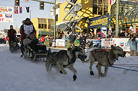 March 3, 2007   Paul Gebart during the Iditarod ceremonial start day in Anchorage