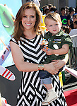 Alyssa Milano and Milo Bugliari at Disney's World Premiere of Planes held at the El Capitan Theatre in Hollywood, California on August 05,2013                                                                   Copyright 2013 Hollywood Press Agency