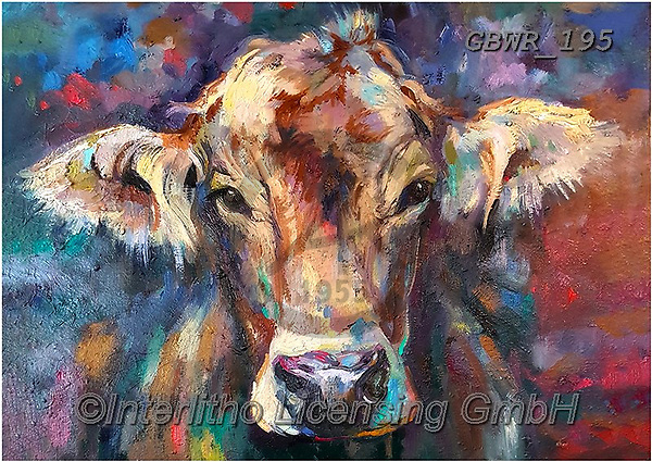 Simon, REALISTIC ANIMALS, REALISTISCHE TIERE, ANIMALES REALISTICOS, innovative, paintings+++++SueGardner_Calf,GBWR195,#a#, EVERYDAY