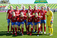 20190301 - LARNACA , CYPRUS : Czech team pictured with Aneta Dedinova (2), Petra Bertholdova (4) , Lucie Martinkova (7) , Lucie Vonkova (9) , Kristyna Janku (10) , Klara Cahynova (12) ,  Michaela Dubcova (13) ,  Antonie Starova (15) , Barbora Ruzickova (16) , Tereza Szewieczkova (17) and Simona Necidova (19) during a women's soccer game between Finland and Czech Republic , on Friday 1 March 2019 at the AEK Arena in Larnaca , Cyprus . This is the second game in group A for Both teams during the Cyprus Womens Cup 2019 , a prestigious women soccer tournament as a preparation on the Uefa Women's Euro 2021 qualification duels. PHOTO SPORTPIX.BE   DAVID CATRY