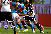 Piotr Zielinski of SSC Napoli and Gaston Brugman of Parma Calcio 1913 compete for the ball during the Serie A football match between Parma Calcio 1913 and SSC Napoli at Ennio Tardini stadium in Parma (Italy), September 20th, 2020. Photo Andrea Staccioli / Insidefoto