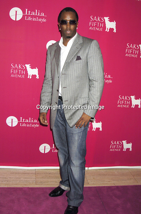 Sean Combs..at the launch of  Wild About Cashmere Party at Saks Fifth Avenue benefitting The Central Park Conservancy  on September 20, 2005...Photo by Robin Platzer, Twin Images