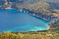 Afales Bay in Ithaki island, Greece
