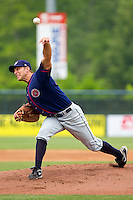 Starting pitcher Matt Grace #21 of the Hagerstown Suns in action against the Rome Braves at State Mutual Stadium on May 1, 2011 in Rome, Georgia.   Photo by Brian Westerholt / Four Seam Images