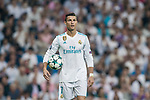 Cristiano Ronaldo of Real Madrid is ready for his penalty kick during the UEFA Champions League 2017-18 match between Real Madrid and APOEL FC at Estadio Santiago Bernabeu on 13 September 2017 in Madrid, Spain. Photo by Diego Gonzalez / Power Sport Images