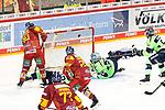 Eishockey DEL 37. Spieltag: Düsseldorfer EG vs <br /> ERC Ingolstadt am 07.04.2021 im ISS Dome in Düsseldorf<br /> <br /> Düsseldorfs Jerome Flaake (Nr.90) trifft zum 2:3<br /> <br /> Foto © PIX-Sportfotos *** Foto ist honorarpflichtig! *** Auf Anfrage in hoeherer Qualitaet/Aufloesung. Belegexemplar erbeten. Veroeffentlichung ausschliesslich fuer journalistisch-publizistische Zwecke. For editorial use only.