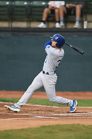 Burlington Royals John Rave (3) bats during a game with the Bristol Pirates at Boyce Cox Field on June 19, 2019 in Bristol, Virginia. The Royals defeated the Pirates 1-0. (Tracy Proffitt/Four Seam Images)