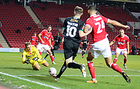 Ashley Maynard-Brewer of Charlton Athletic collects the ball during Charlton Athletic vs Plymouth Argyle, Emirates FA Cup Football at The Valley on 7th November 2020