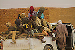 AGADEZ, NIGER — <br /> A pick-up truck filled with migrants returns to the city of Agadez after it was turned back by military checkpoints in the Sahara desert.