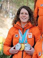 OLYMPIC GAMES: PYEONGCHANG: 25-02-2018, Gangneung, Olympic medalists TeamNL photoshoot, Ireen Wüst, ©photo Martin de Jong