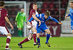 Hearts v St Johnstone....11.01.11  Scottish Cup.Kevin Kyle battles with Murray Davidson.Picture by Graeme Hart..Copyright Perthshire Picture Agency.Tel: 01738 623350  Mobile: 07990 594431