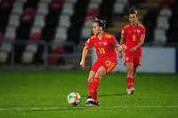 Lilly Woodham of Wales Women's in action during the UEFA Women's EURO 2022 Qualifier match between Wales Women and Faroe Islands Women at Rodney Parade in Newport, Wales, UK. Thursday 22 October 2020