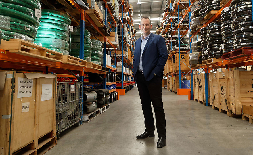 Josh Beaver at Beaver Group HQ in Perth, 29/11/2018. The company has invested heavily in capital expenditure. photo by Trevor Collens