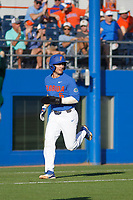 University of Florida Gators infielder Jonathan India (6) running the bases during a game against the Siena Saints at Alfred A. McKethan Stadium in Gainesville, Florida on February 17, 2018. Florida defeated Siena 10-2. (Robert Gurganus/Four Seam Images)