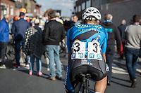 Michael Goolaerts (BEL/Veranda's Willems Crelan) post race on his way to the teambus<br /> <br /> 102nd Kampioenschap van Vlaanderen 2017 (UCI 1.1)<br /> Koolskamp - Koolskamp (192km)