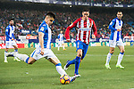 Unai Bustinza (l) of Deportivo Leganes fights for the ball with Fernando Torres of Atletico de Madrid during their La Liga match between Atletico de Madrid and Deportivo Leganes at the Vicente Calderón Stadium on 04 February 2017 in Madrid, Spain. Photo by Diego Gonzalez Souto / Power Sport Images