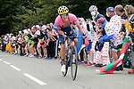 Rigoberto Uran (COL) EF Pro Cycling climbs Col de Marie Blanque during Stage 9 of Tour de France 2020, running 153km from Pau to Laruns, France. 6th September 2020. <br /> Picture: Colin Flockton   Cyclefile<br /> All photos usage must carry mandatory copyright credit (© Cyclefile   Colin Flockton)