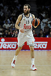 Real Madrid´s Sergio Rodriguez during 2014-15 Euroleague Basketball Playoffs second match between Real Madrid and Anadolu Efes at Palacio de los Deportes stadium in Madrid, Spain. April 17, 2015. (ALTERPHOTOS/Luis Fernandez)